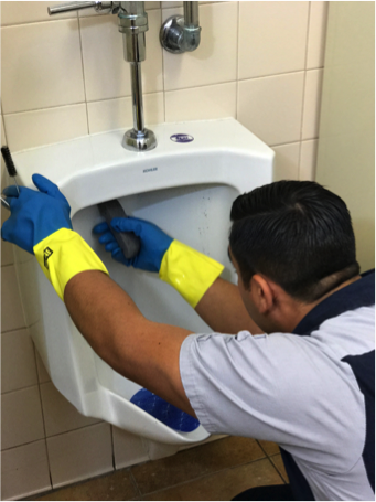 Hygenix specialist cleaning restroom